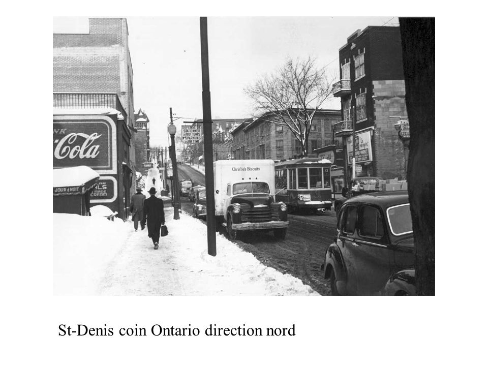 St-Denis coin Ontario direction nord