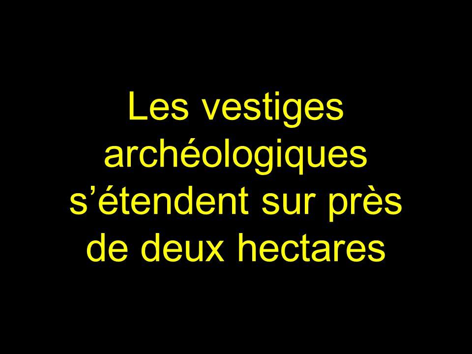 Les vestiges archéologiques s'étendent sur près de deux hectares