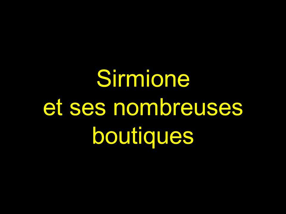 Sirmione et ses nombreuses boutiques