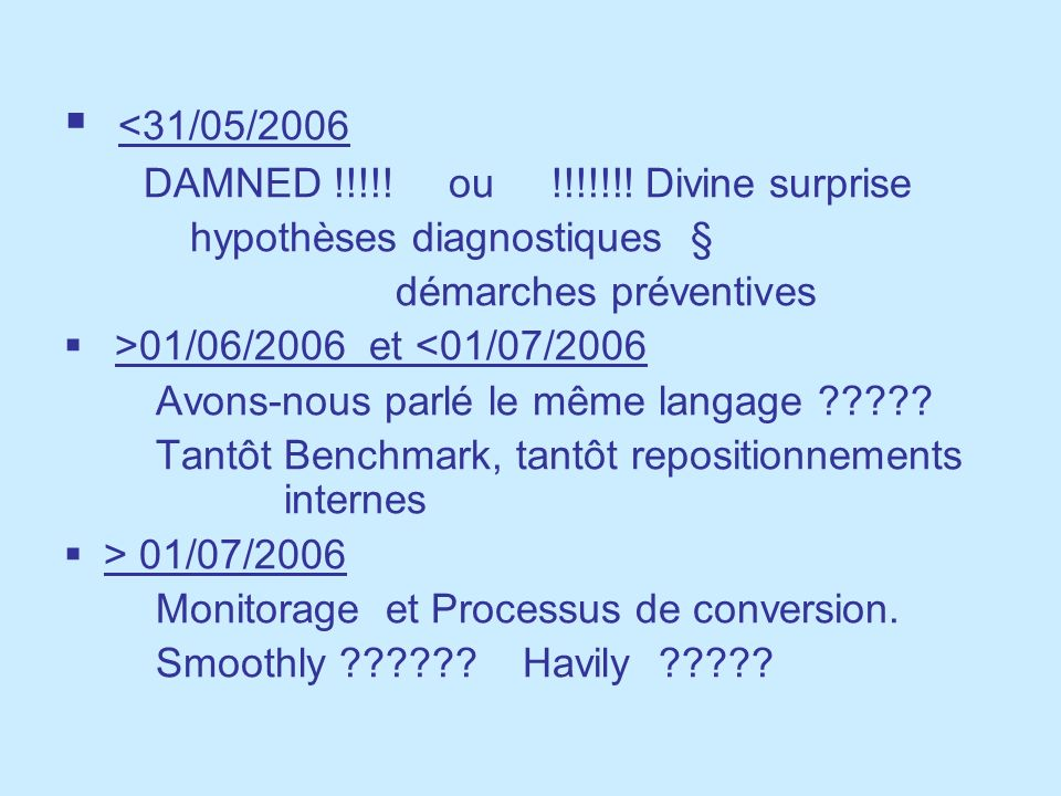 <31/05/2006 DAMNED !!!!! ou !!!!!!! Divine surprise