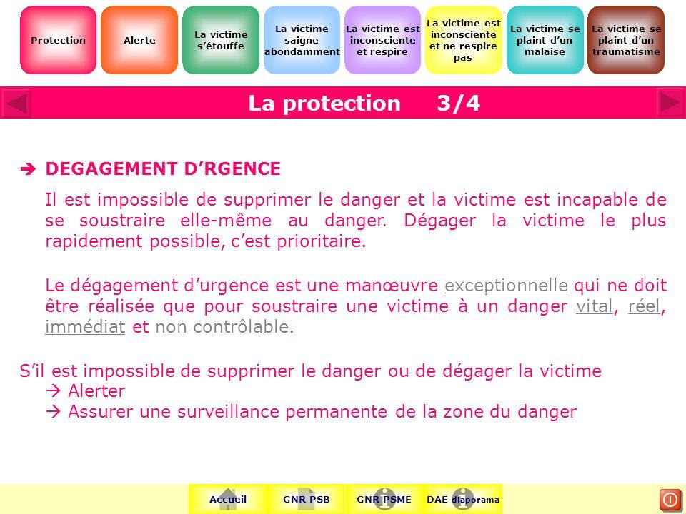 3/4 DEGAGEMENT D'RGENCE.