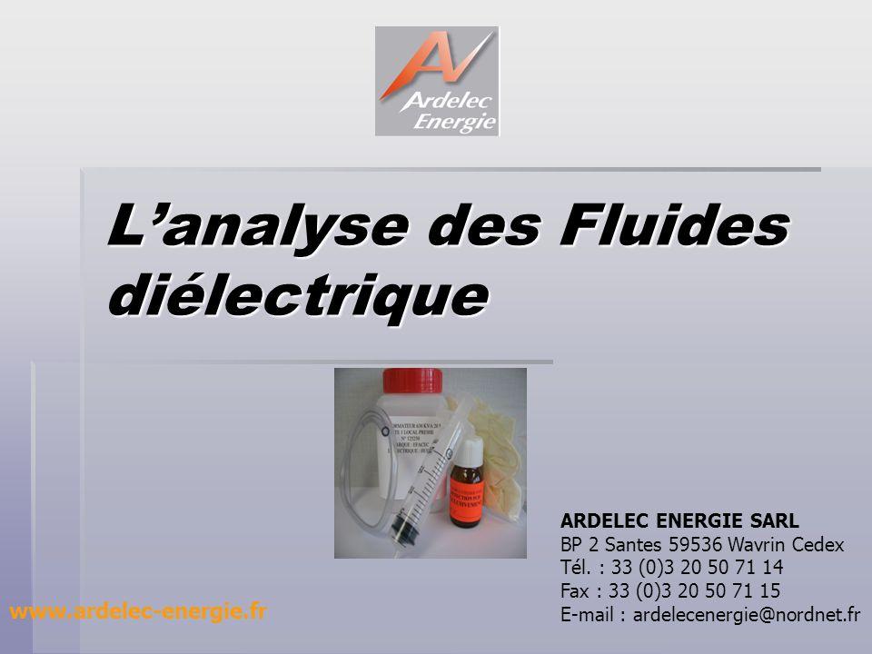 L'analyse des Fluides diélectrique