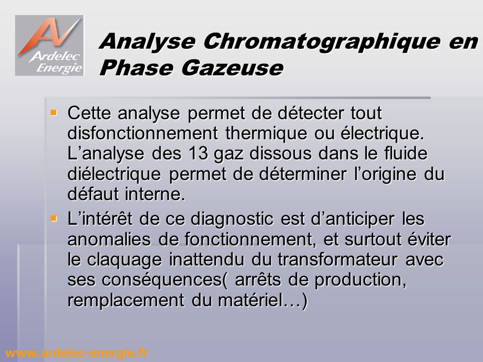 Analyse Chromatographique en Phase Gazeuse