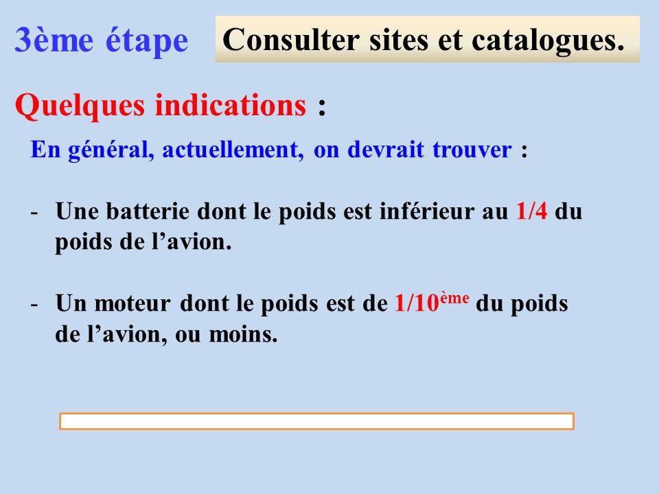 3ème étape Consulter sites et catalogues. Quelques indications :