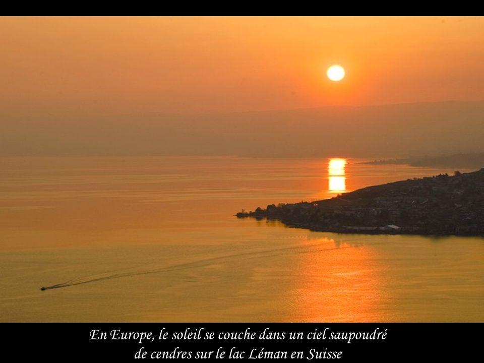 En Europe, le soleil se couche dans un ciel saupoudré