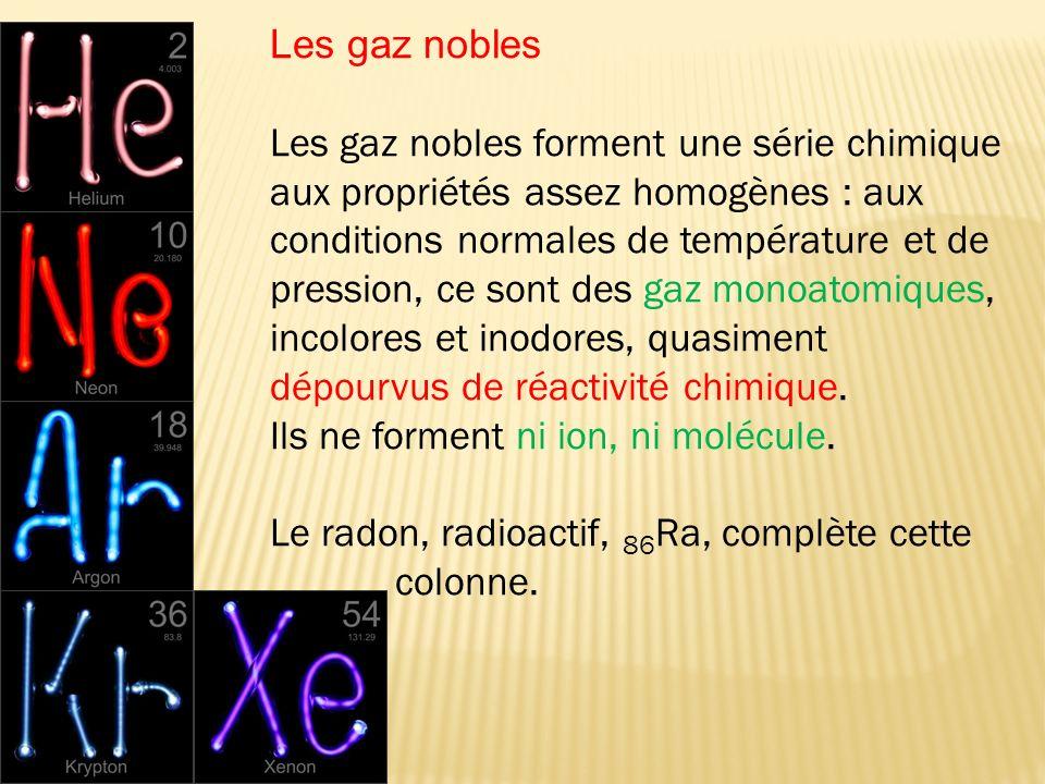Les gaz nobles