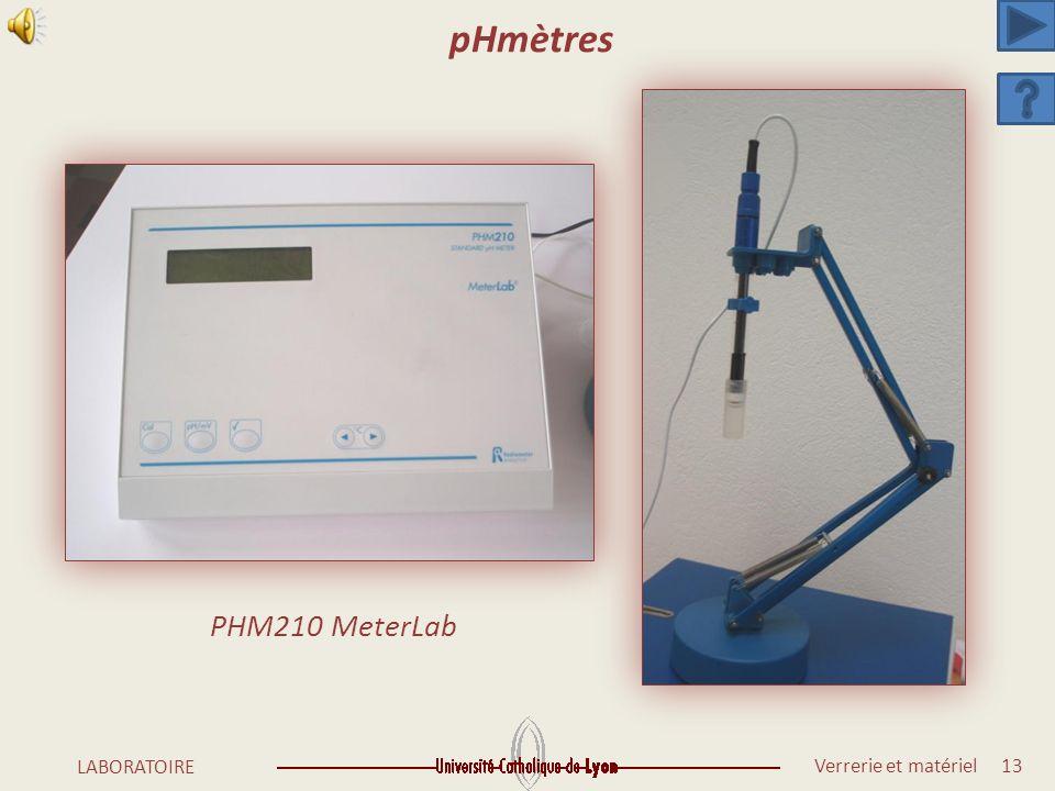 pHmètres PHM210 MeterLab