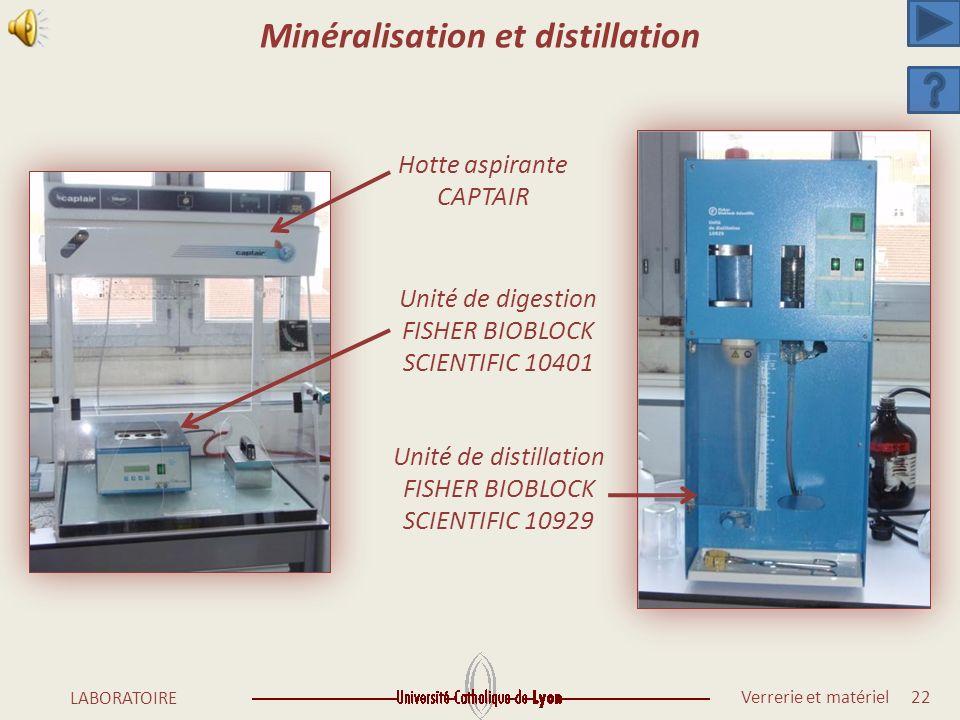 Minéralisation et distillation
