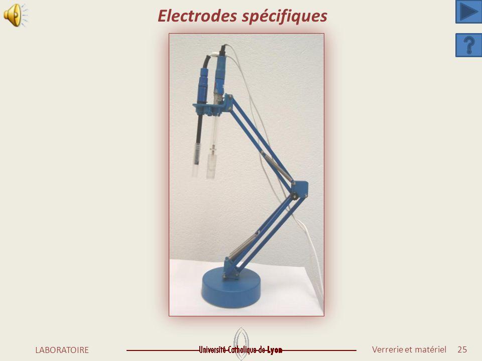 Electrodes spécifiques