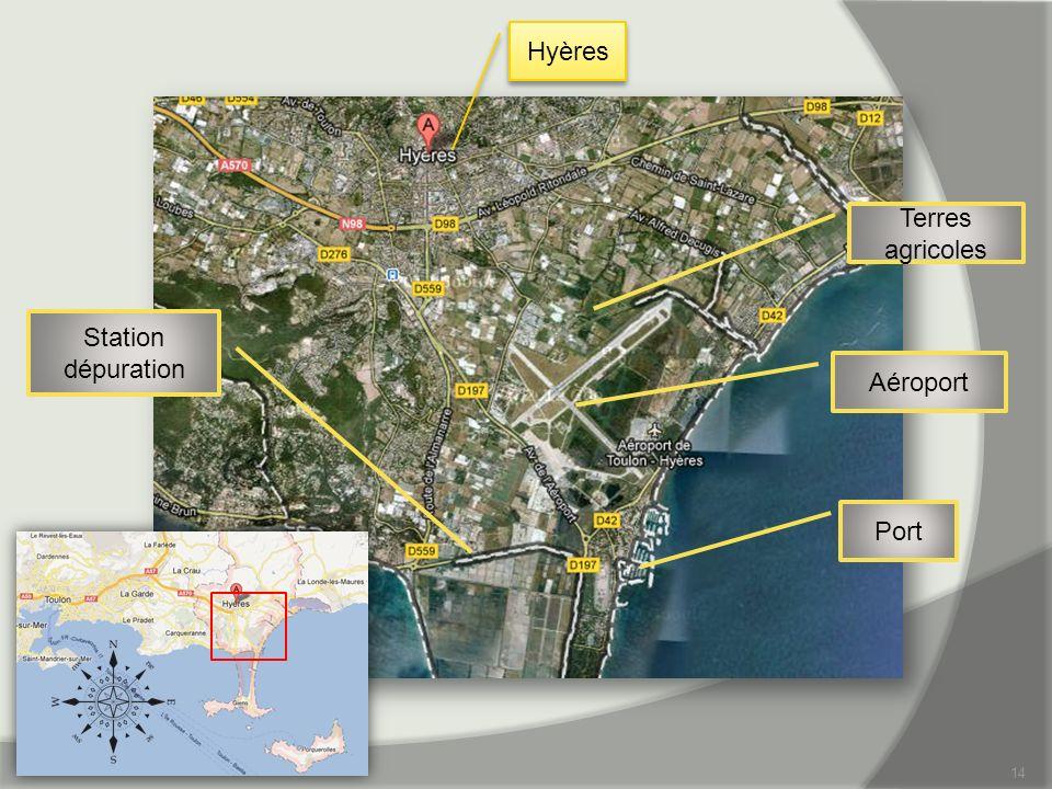 Hyères Terres agricoles Station dépuration Aéroport Port