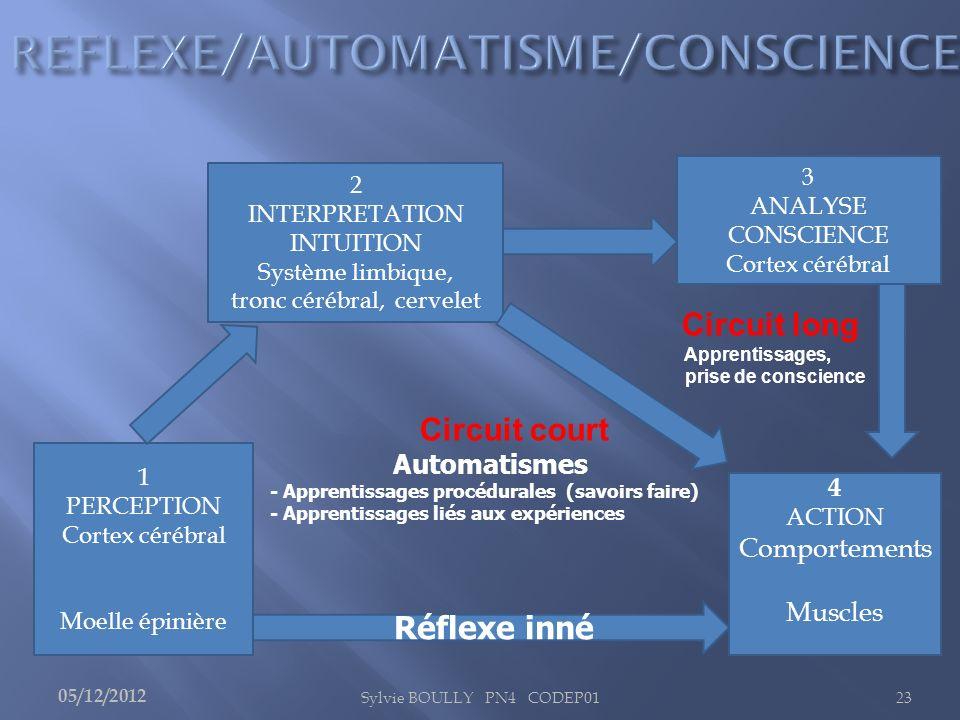 REFLEXE/AUTOMATISME/CONSCIENCE