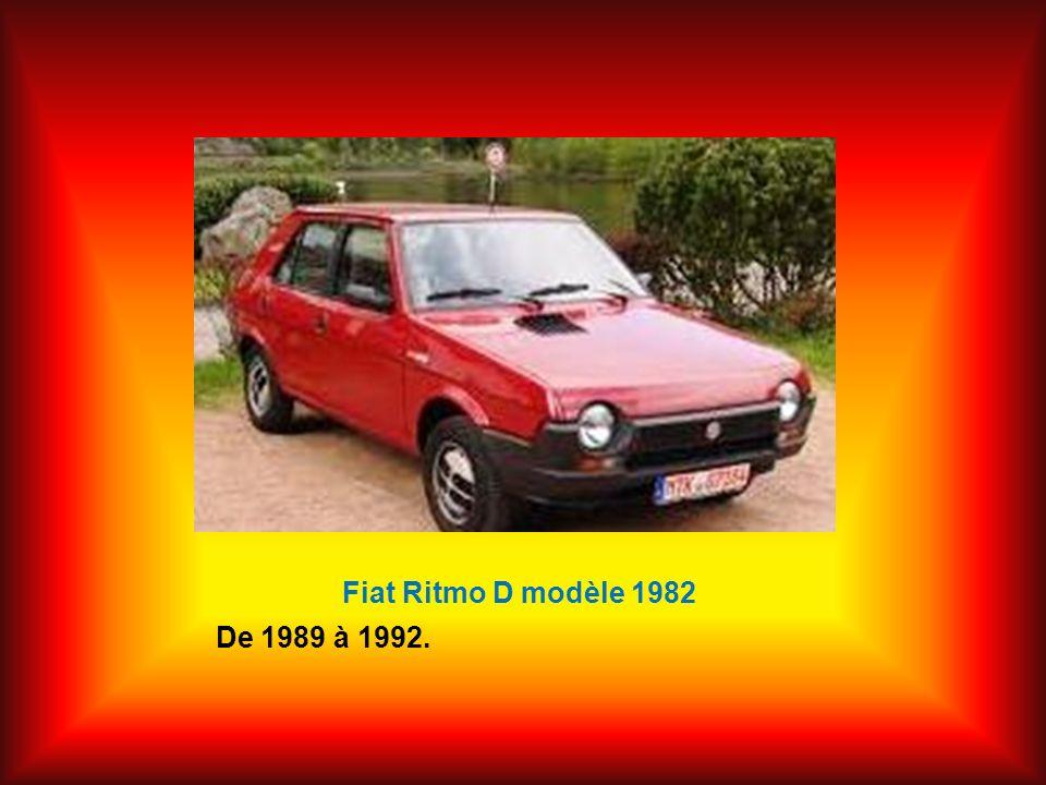 Fiat Ritmo D modèle 1982 De 1989 à 1992.