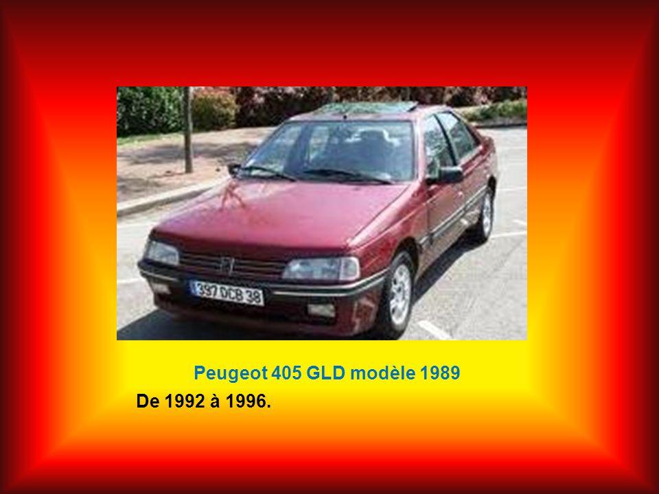 Peugeot 405 GLD modèle 1989 De 1992 à 1996.