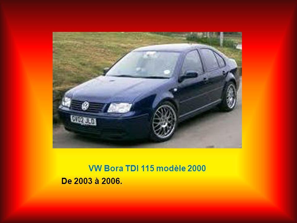 VW Bora TDI 115 modèle 2000 De 2003 à 2006.