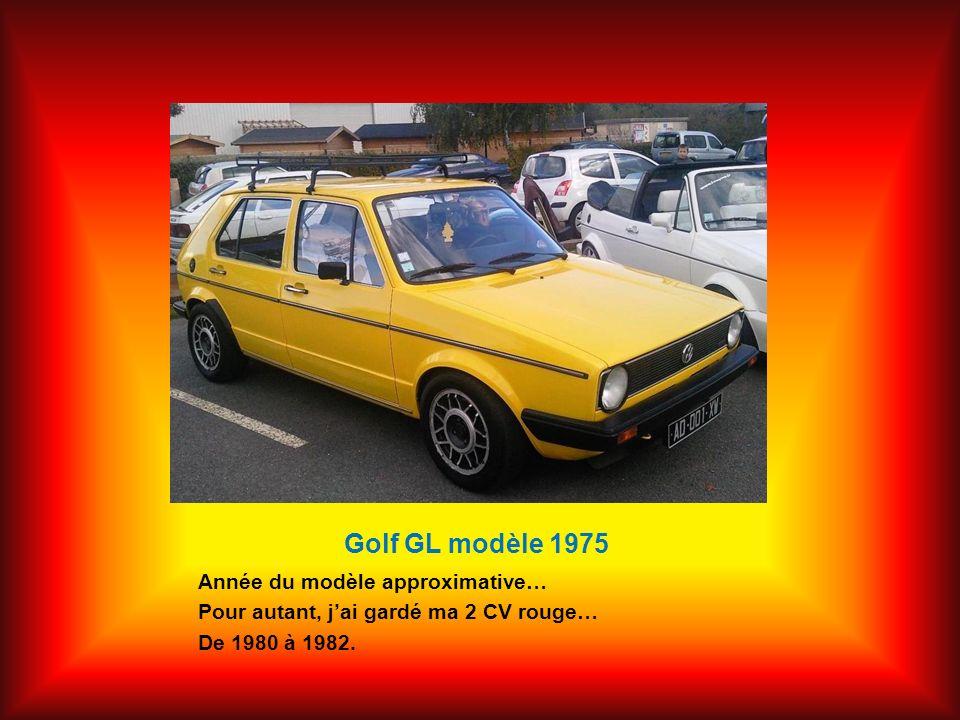 Golf GL modèle 1975 Année du modèle approximative…