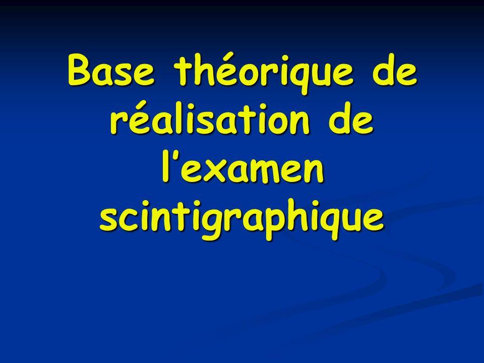 Base théorique de réalisation de l'examen scintigraphique