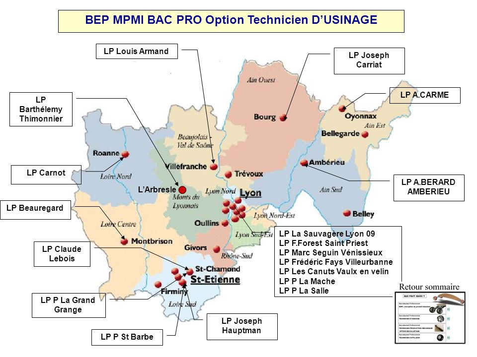 BEP MPMI BAC PRO Option Technicien D'USINAGE LP Barthélemy Thimonnier