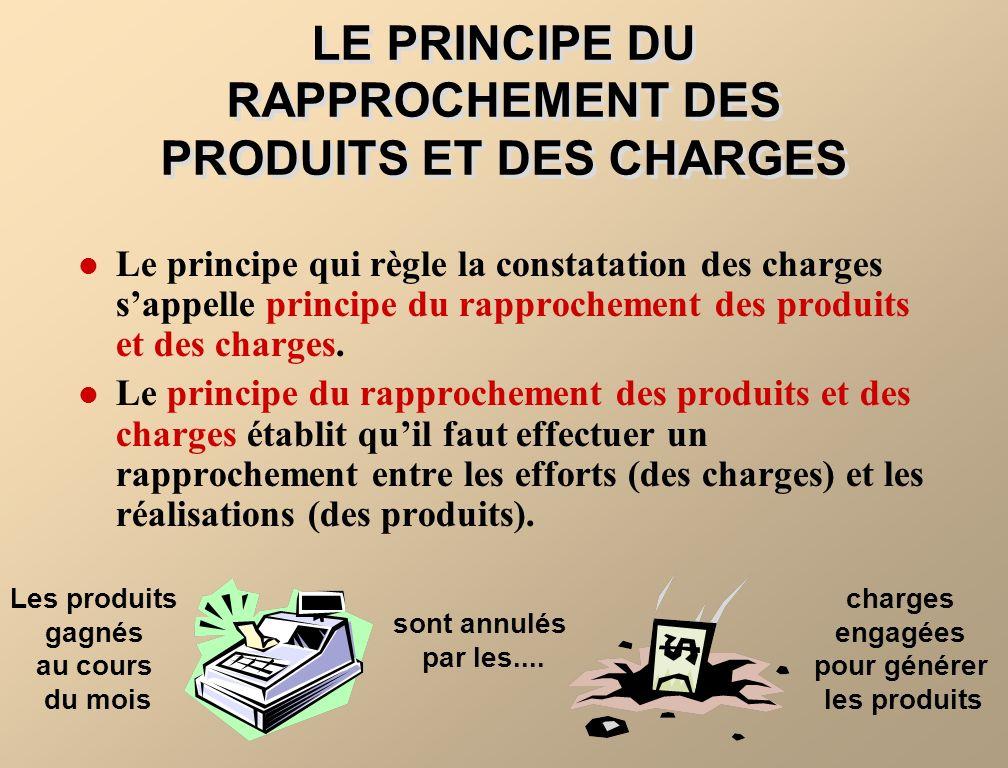 LE PRINCIPE DU RAPPROCHEMENT DES PRODUITS ET DES CHARGES