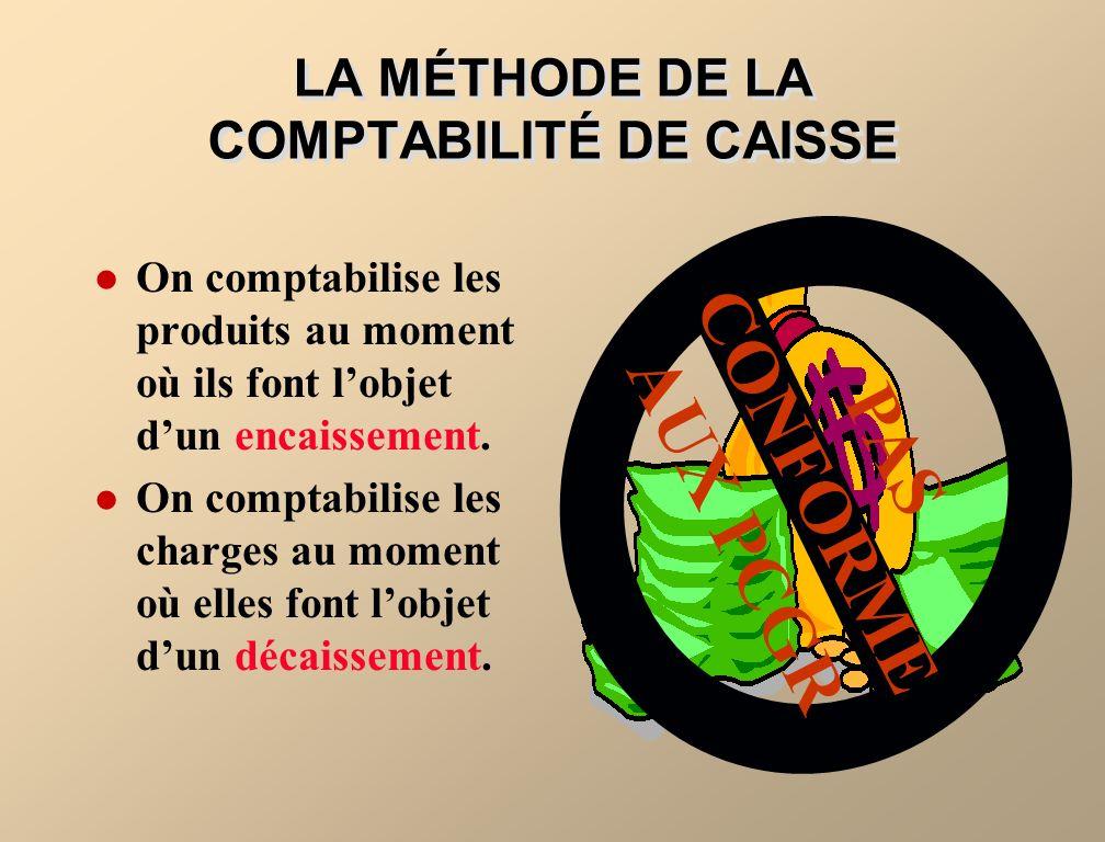 LA MÉTHODE DE LA COMPTABILITÉ DE CAISSE