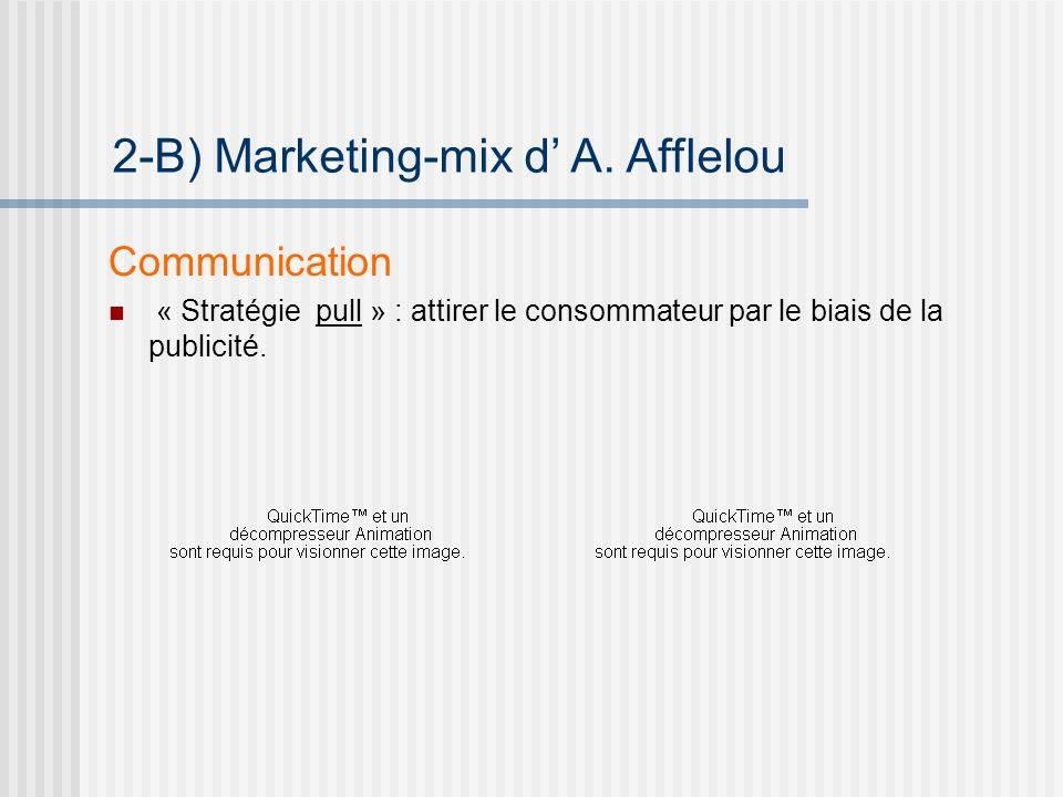 2-B) Marketing-mix d' A. Afflelou