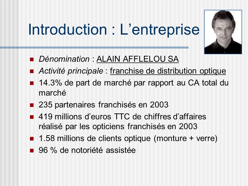 Introduction : L'entreprise
