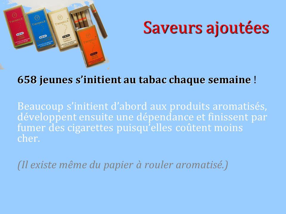 Saveurs ajoutées 658 jeunes s'initient au tabac chaque semaine !