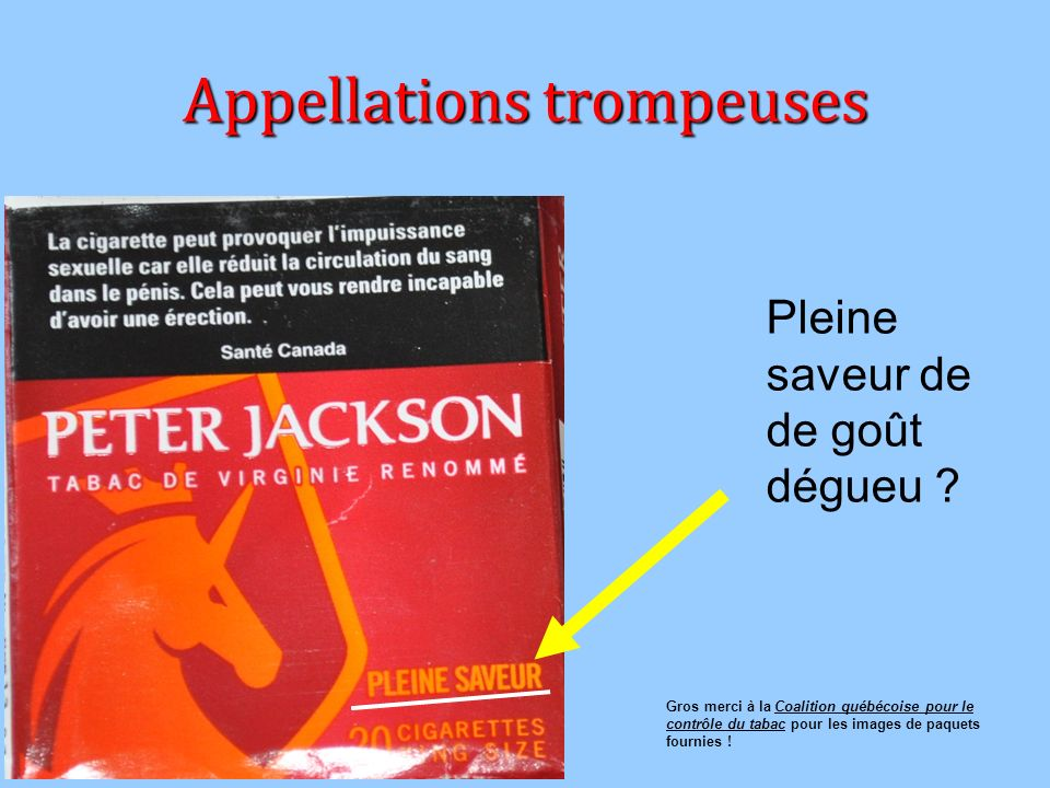 Appellations trompeuses