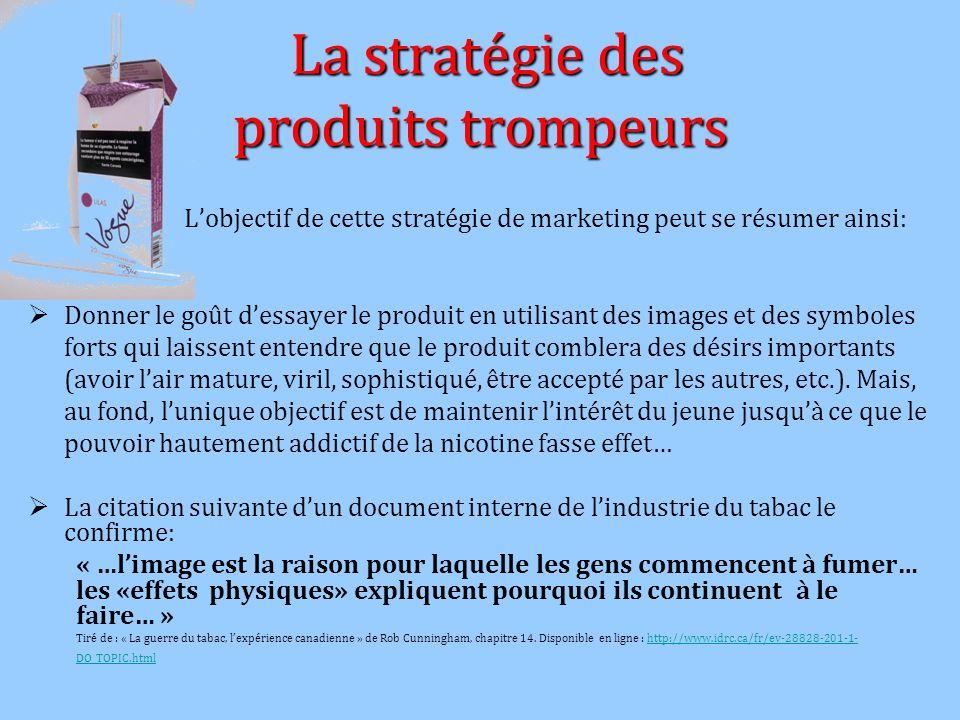 La stratégie des produits trompeurs