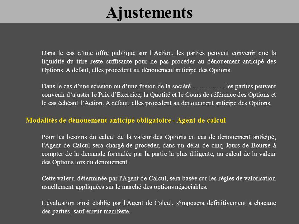 Ajustements