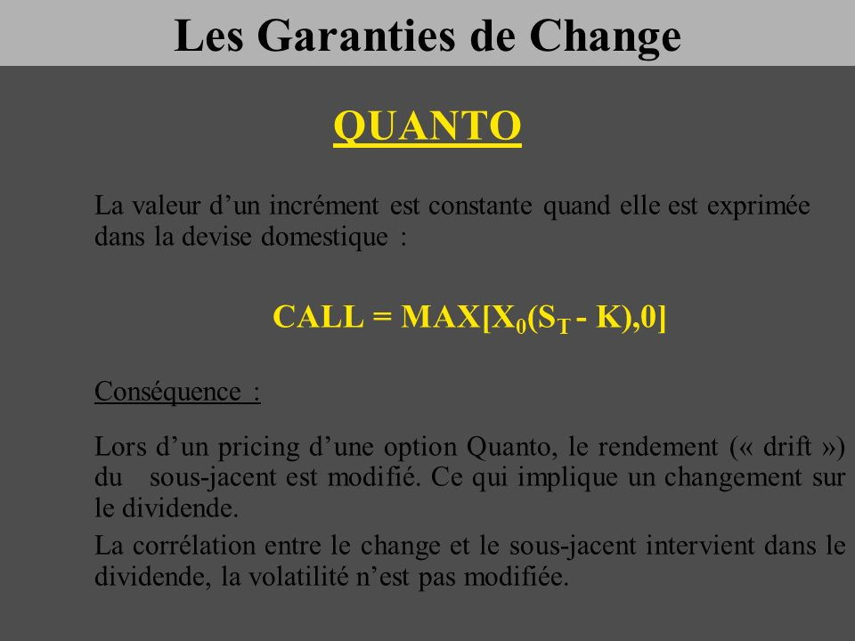 Les Garanties de Change