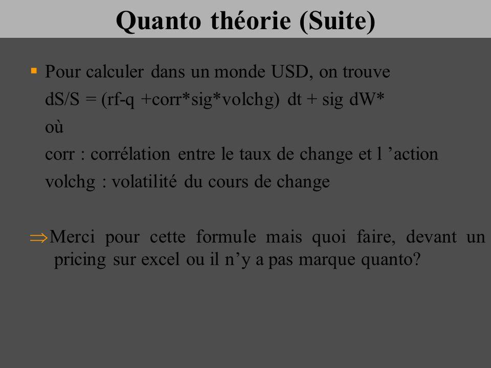 Quanto théorie (Suite)