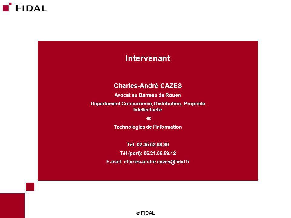 Intervenant Charles-André CAZES Avocat au Barreau de Rouen