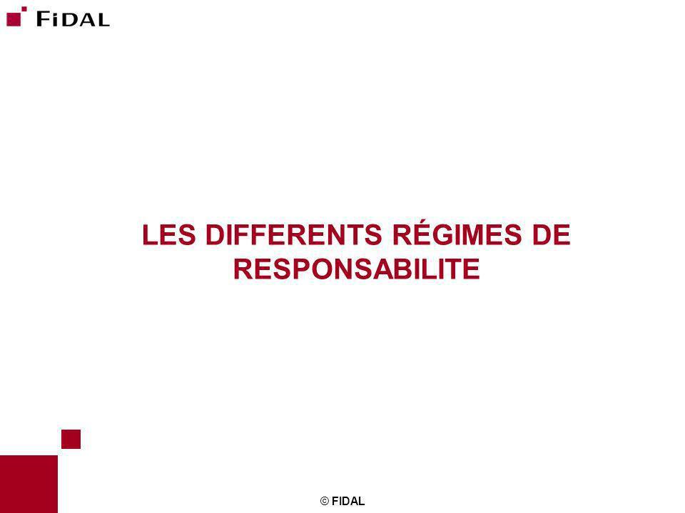 LES DIFFERENTS RÉGIMES DE RESPONSABILITE