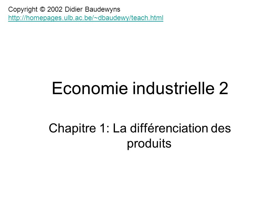 Economie industrielle 2