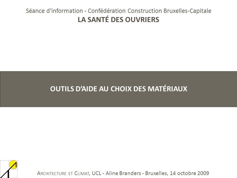 OUTILS D'AIDE AU CHOIX DES matériaux