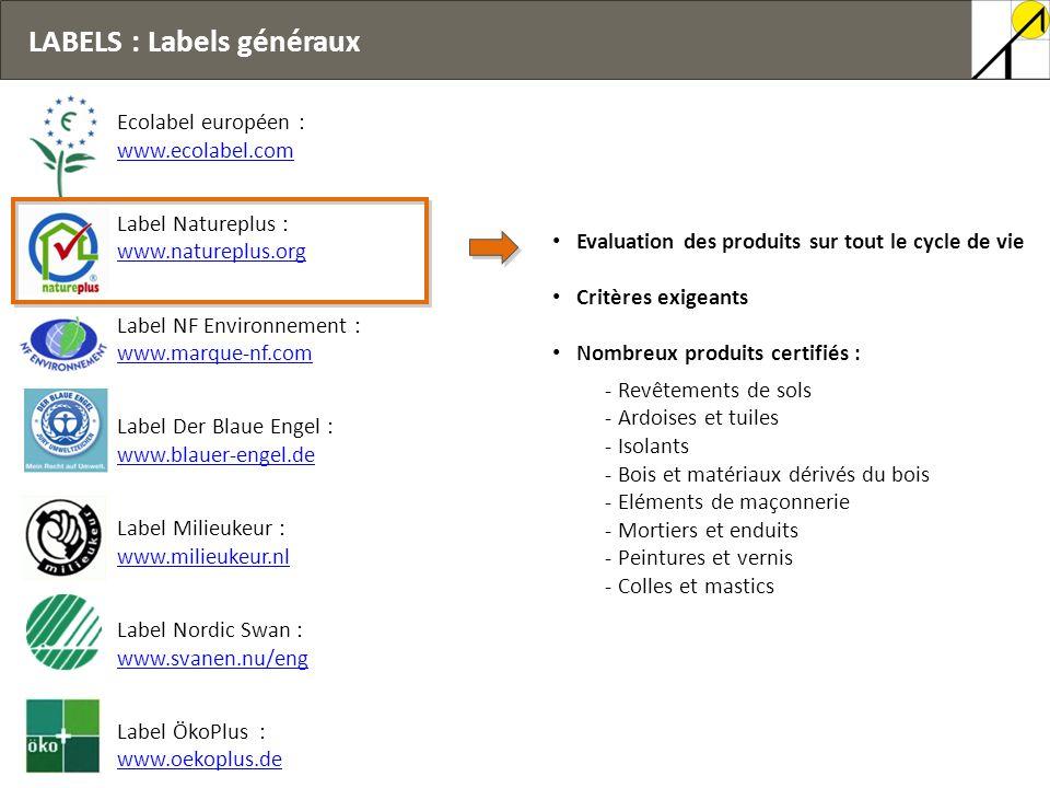 LABELS : Labels généraux