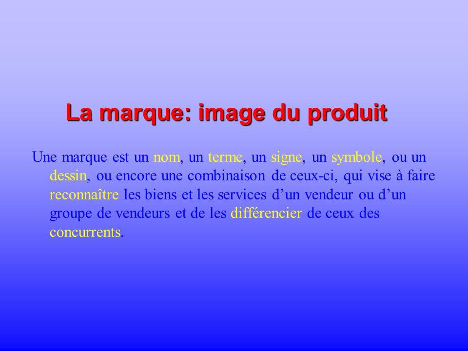 La marque: image du produit