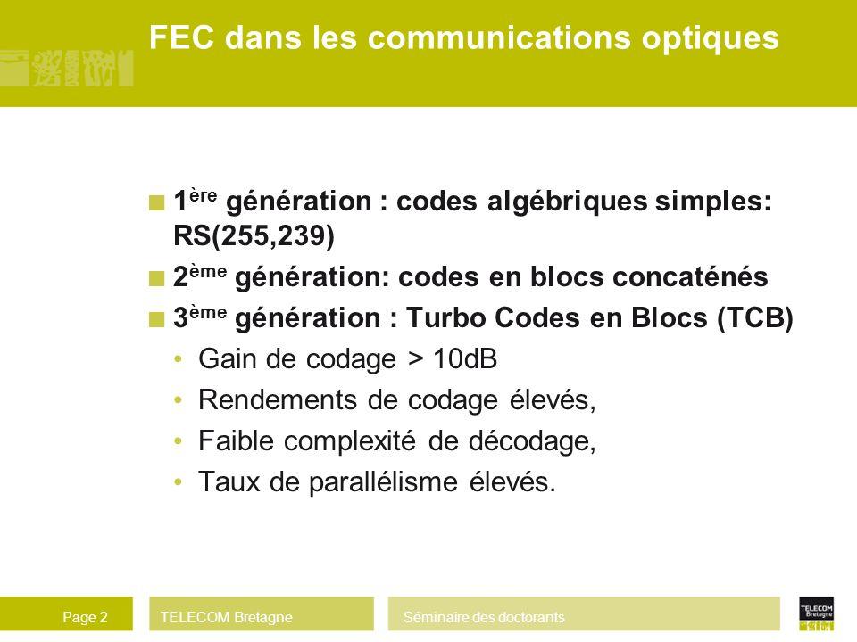 FEC dans les communications optiques