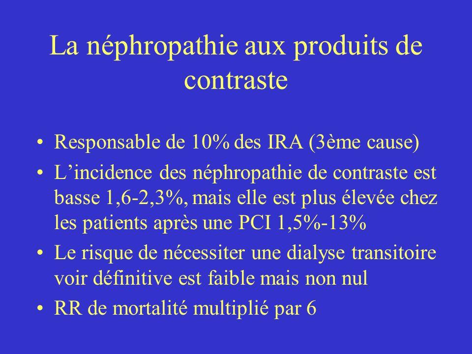 La néphropathie aux produits de contraste