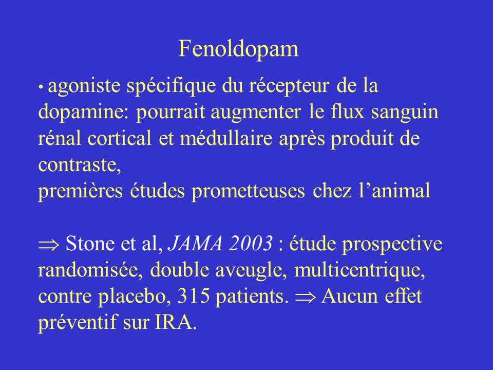 Fenoldopam premières études prometteuses chez l'animal