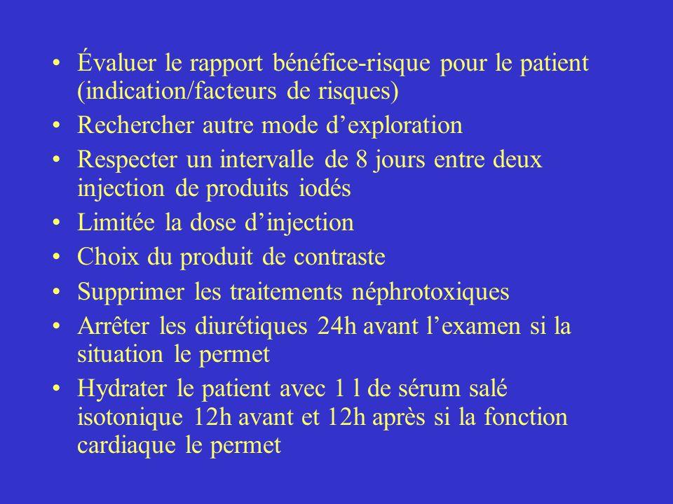 Évaluer le rapport bénéfice-risque pour le patient (indication/facteurs de risques)