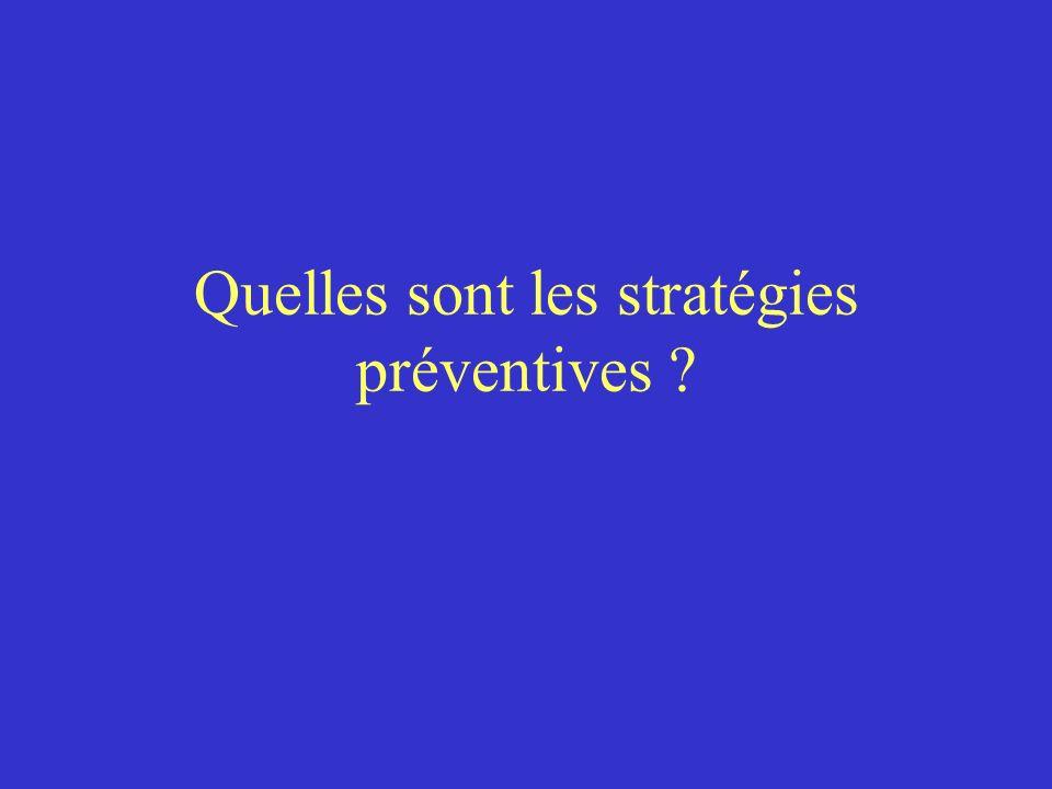 Quelles sont les stratégies préventives