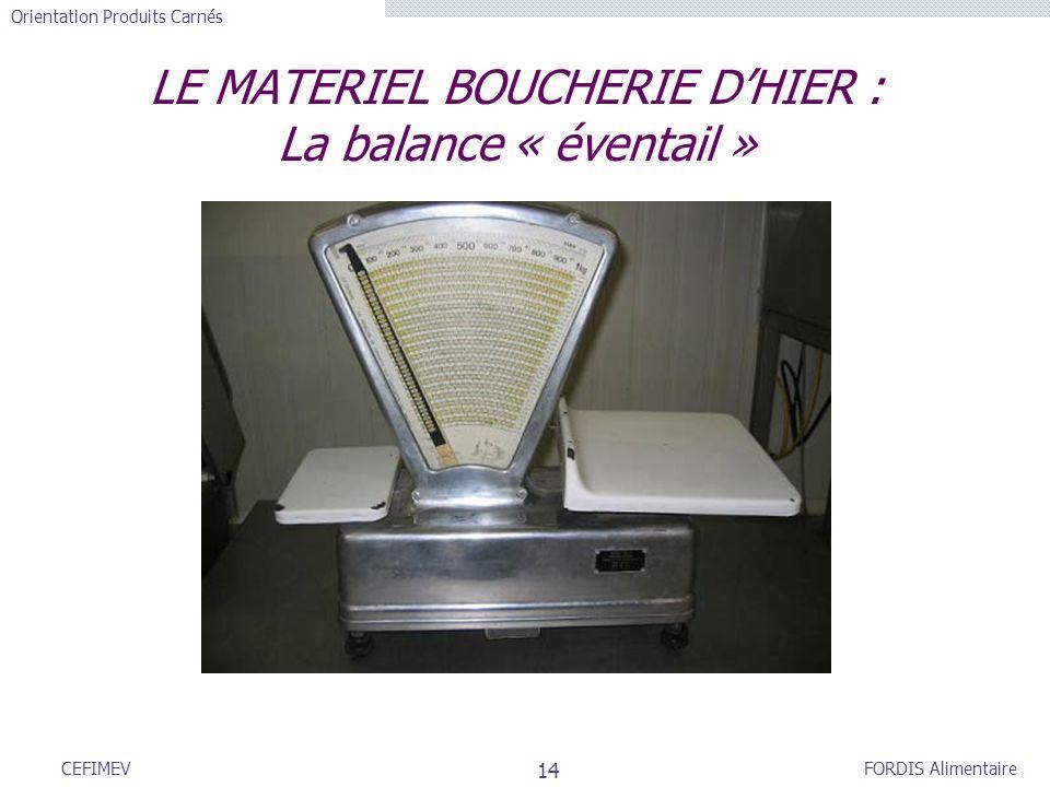 LE MATERIEL BOUCHERIE D'HIER : La balance « éventail »