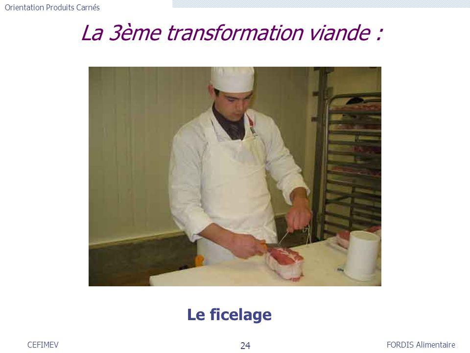 La 3ème transformation viande :