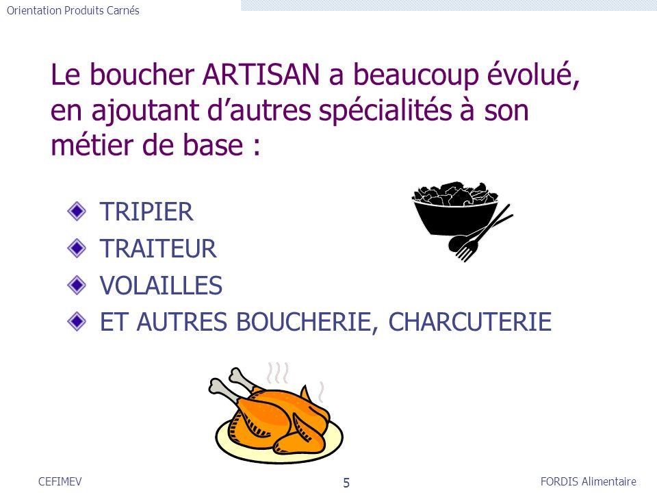 Le boucher ARTISAN a beaucoup évolué, en ajoutant d'autres spécialités à son métier de base :