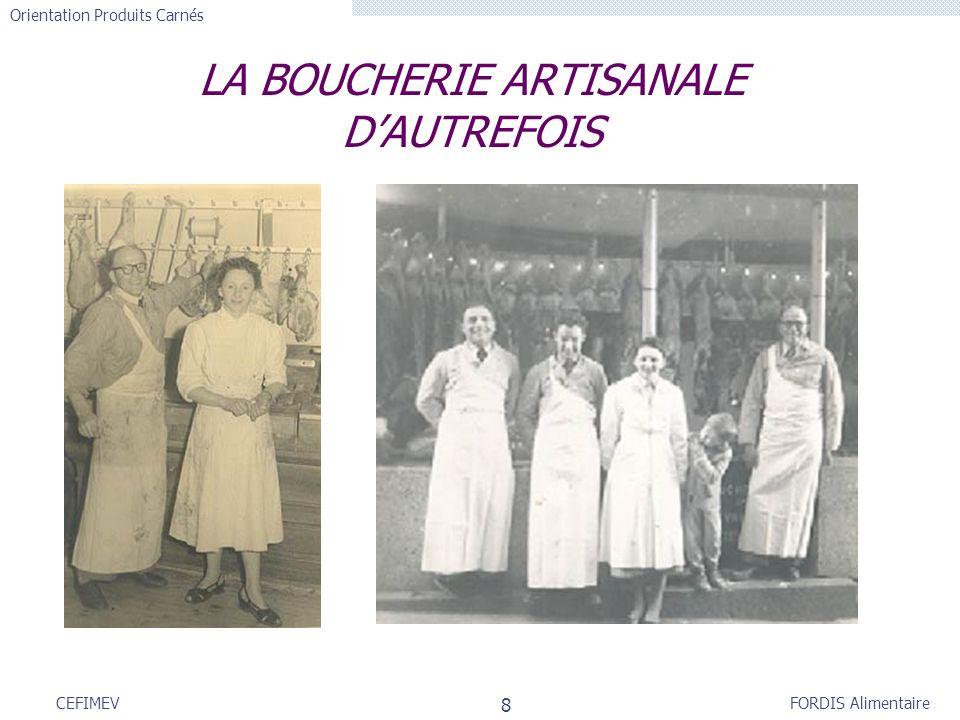 LA BOUCHERIE ARTISANALE D'AUTREFOIS
