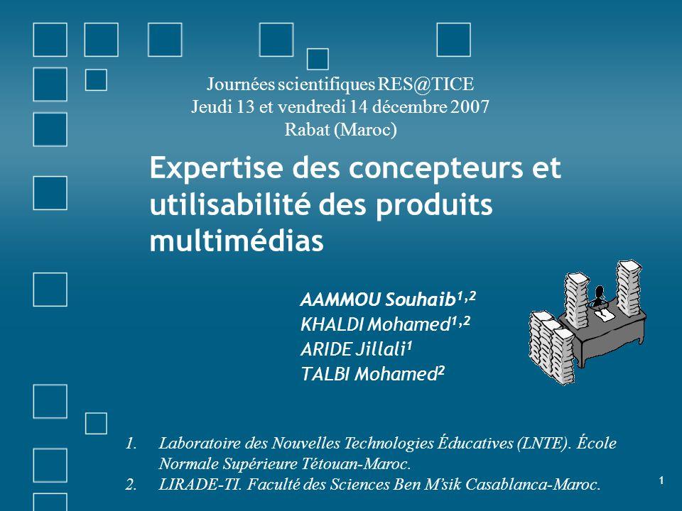 Expertise des concepteurs et utilisabilité des produits multimédias