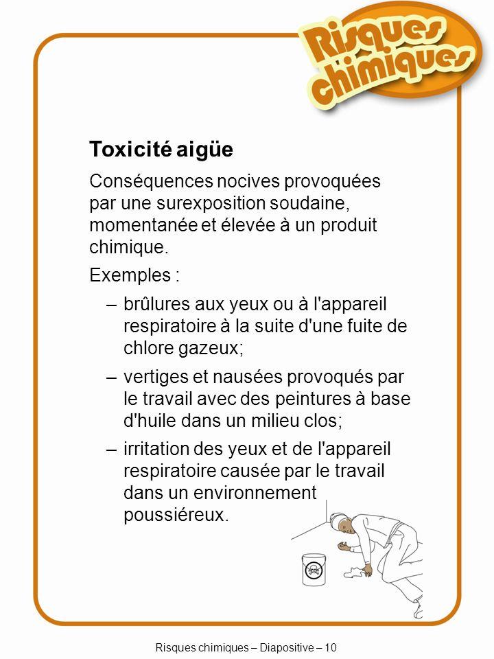 Risques chimiques – Diapositive – 10