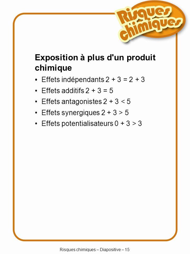 Risques chimiques – Diapositive – 15
