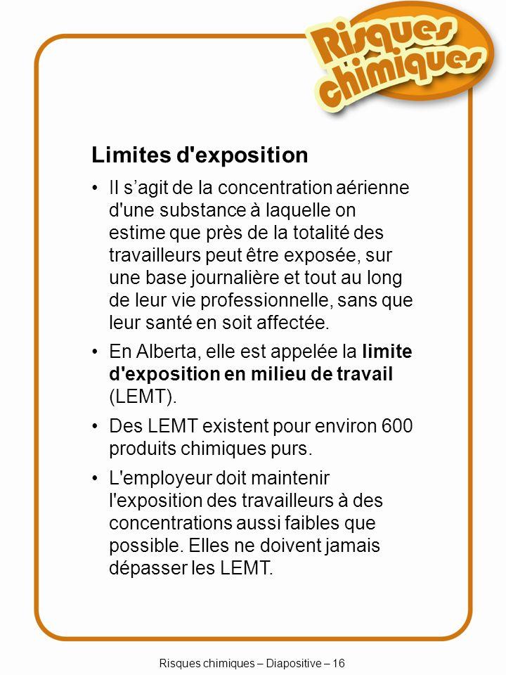 Risques chimiques – Diapositive – 16